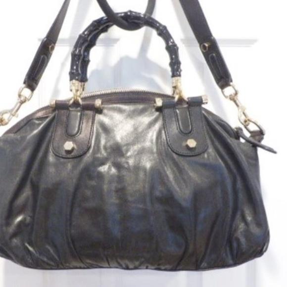 51e988aaa74b Gucci Bags | Black Leather Bamboohorsebit Shoulder Bag | Poshmark